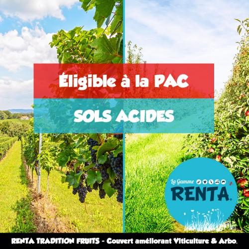 RENTA TRADITION Fruits - Couvert améliorant Viticulture et Arboriculture - Sols acides