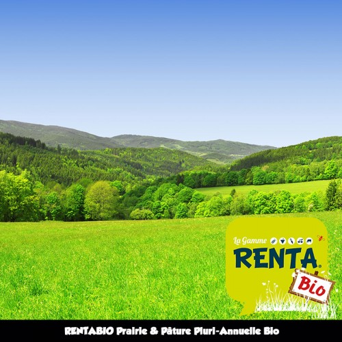 RENTA BIO Mélange Pluriannuel Prairie/Pâture - 25% Luzerne (minimum 70% Bio) **