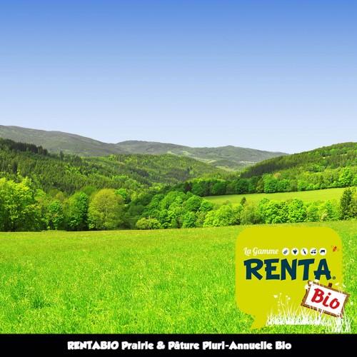 RENTA BIO Mélange Pluriannuel Bio Prairie/Pâture - 25% Luzerne (70/30) **