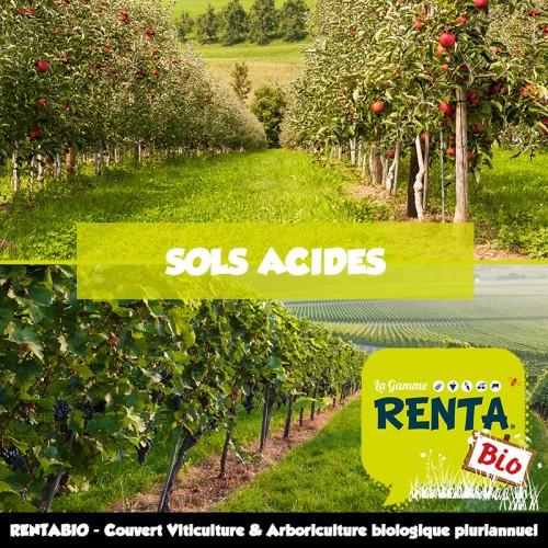 RENTA BIO - Couvert taille court Viticulture et Arboriculture Pluriannuel Sols Acides (minimum 70% Bio)**