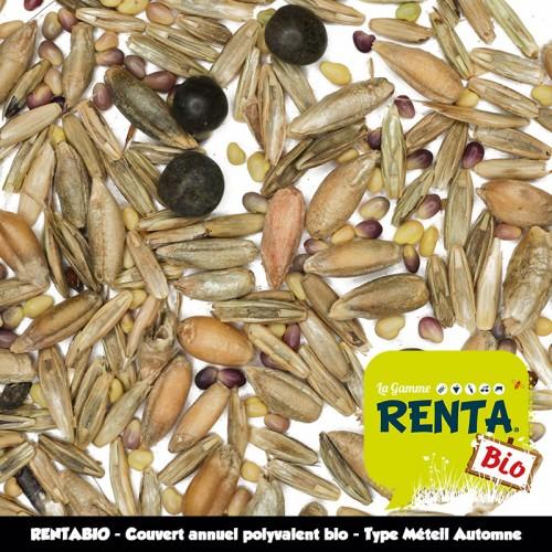 RENTABIO - Couvert annuel polyvalent bio - Type Méteil Automne