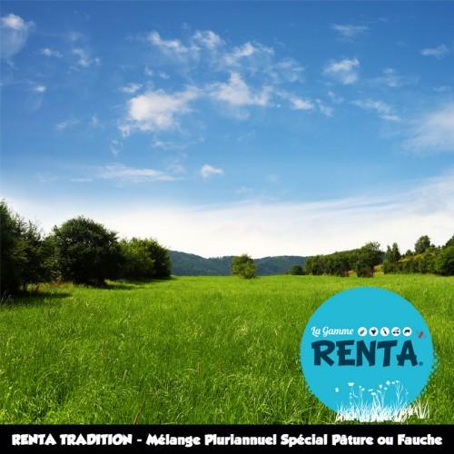 RENTA TRADITION - Mélange Pluriannuel Spécial Pâture ou Fauche – 65% Ray-grass