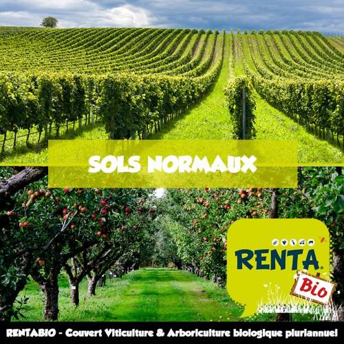 RENTA BIO - Couvert Viticulture et Arboriculture Pluriannuel - Sols Normaux - (minimum 70% Bio) **